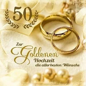 Glückwunschkarten Zur Goldenen Hochzeit : gl ckwunschkarte zur goldenen hochzeit gru karte bestellen ~ Frokenaadalensverden.com Haus und Dekorationen