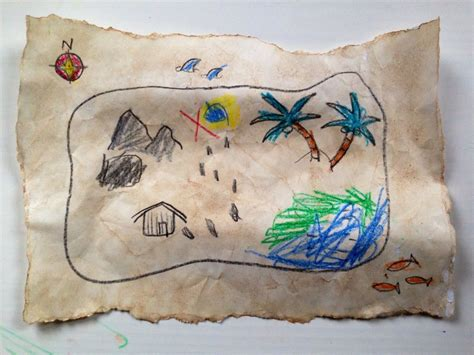 Pirate Treasure Map My Kid Craft