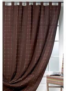 Rideaux Rayures Verticales : rideau coton et lin rayures verticales chocolat homemaison vente en ligne rideaux ~ Teatrodelosmanantiales.com Idées de Décoration