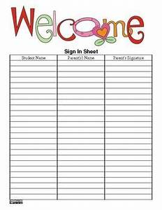 the teacher39s ultimate sign in sheet pdf version free With back to school sign in sheet template