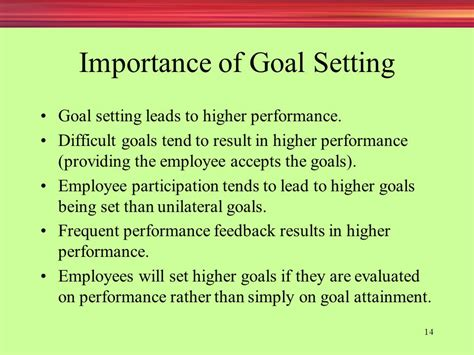 employee goal setting appraising and managing performance ppt