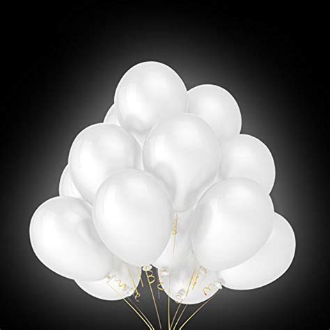 foho  led leuchtende weiss luftballons fuer party