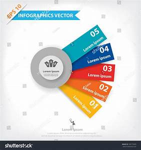 Colorful Vector Design Workflow Layout Diagram Stock