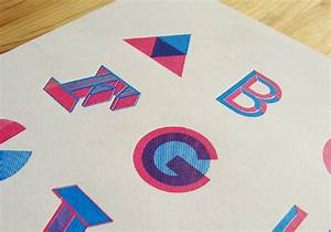 alphabet wwwjakeborg With screen printing letters