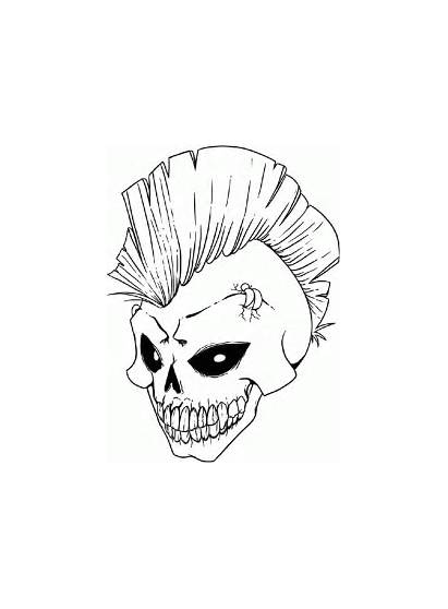 Cool Pages Coloring Skull Colouring Printable Hard