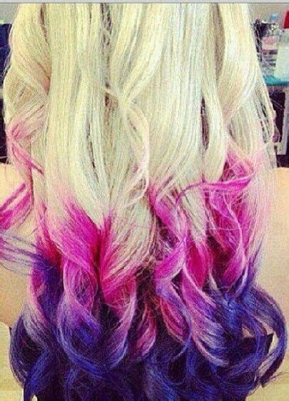 dip dye hair images  pinterest colourful hair