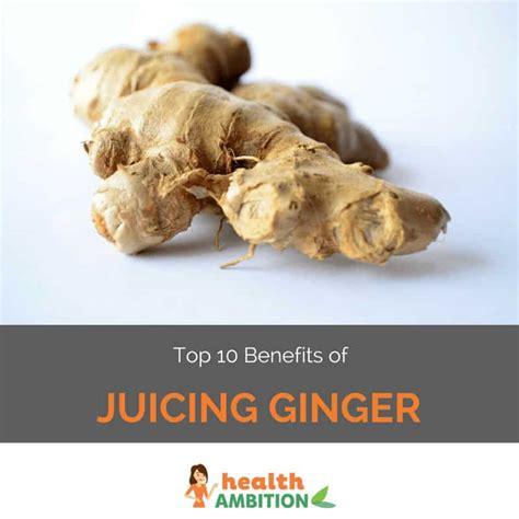 ginger juicing benefits root
