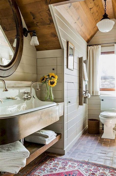 rustic farmhouse master bathroom remodel ideas