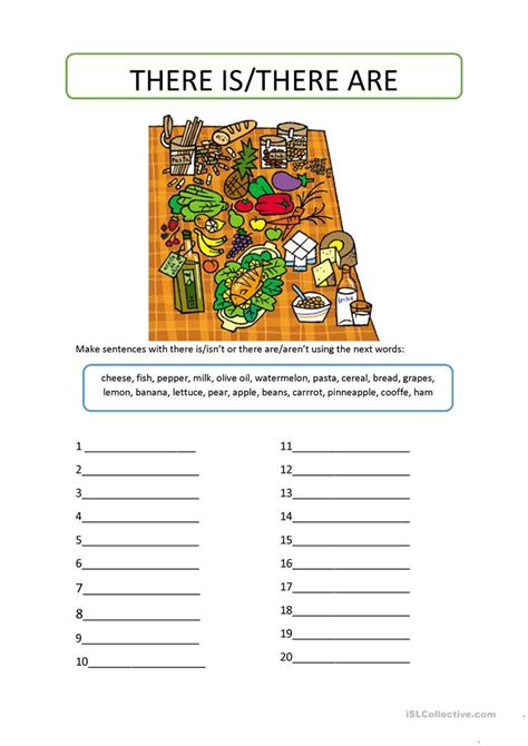 there is there are worksheet free esl printable