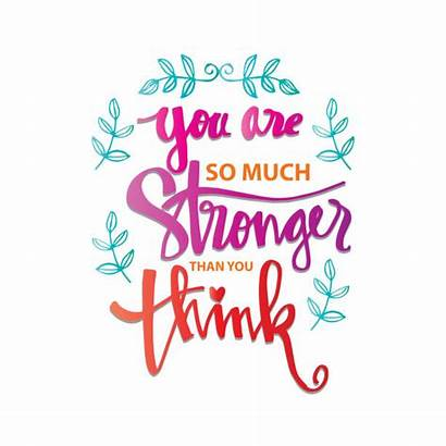 Think Stronger Than Quote Motivational Thinking Card
