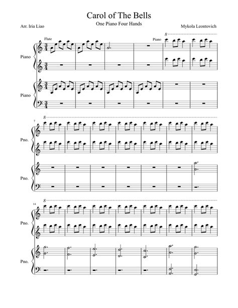 It's completely free to download and try the listed sheet music, but you have to delete the files after 24 hours of trial period. Carol of The Bells Sheet music for Piano | Download free in PDF or MIDI | Musescore.com