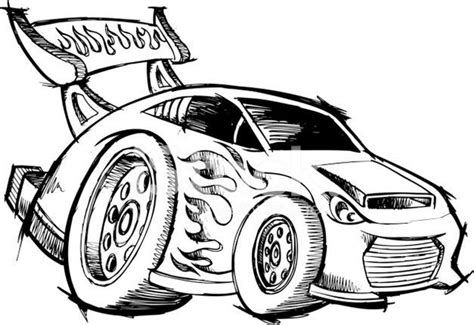 Hot Rod Race Car Coloring Page Printable See the category