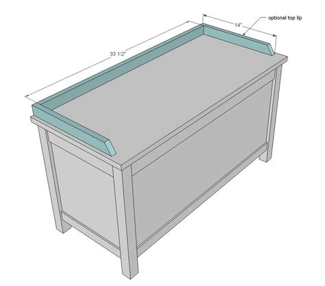 ana white build  simple modern toy box  lid