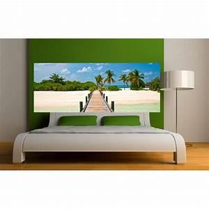 Papier Peint Sticker : papier peint t te de lit ponton art d co stickers ~ Premium-room.com Idées de Décoration