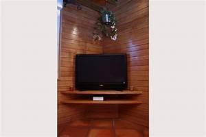 Meuble tv coin meuble tv noir led Maisonjoffrois