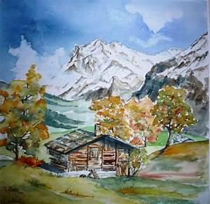 tableau peinture paysage automne montagne campagne With toute les couleurs de peinture 0 peinture amour dautomne