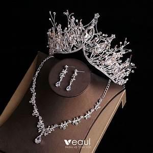 chic beautiful gold tiara earrings flower necklace