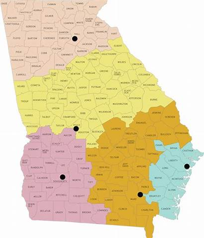 Map Ga County Fisheries Northern Region Office