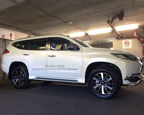 mitsubishi shogun 2017 2017 mitsubishi shogun sport spy shot uk indian autos blog