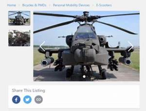 Someone Tried Selling 2nd Hand Rsaf Apache For S 24