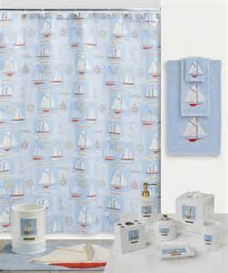 sailboat schooner nautical bath shower curtain hooks ebay