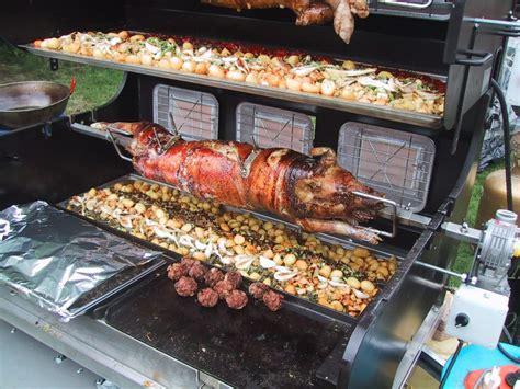 cuisine de cochon tournebroche prestige combiné barbecue et plancha