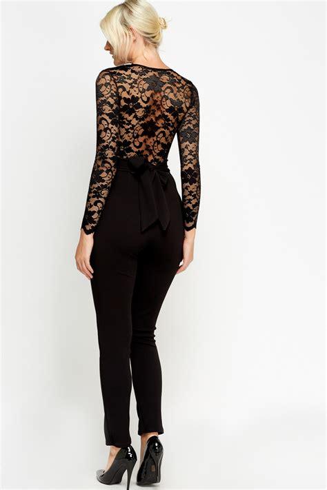 black sleeve jumpsuit lace sleeve black jumpsuit just 5