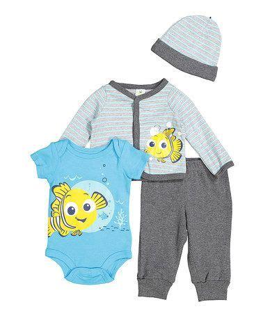 Loving this Gray Finding Nemo Bodysuit & Pant Set - Infant ...
