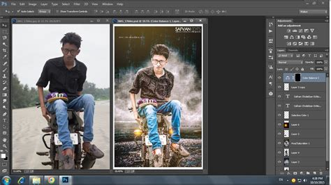 photoshop photo editing background changing simple