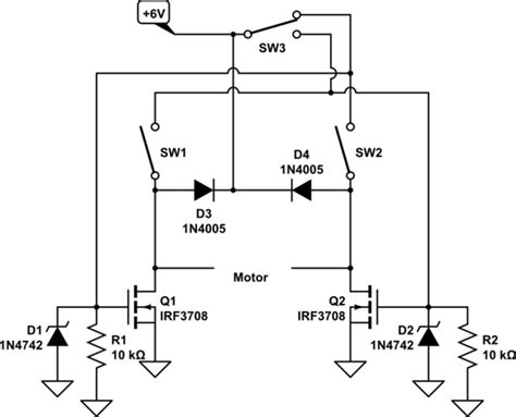 Digital Logic Motor Polarity Reversing Circuit Using