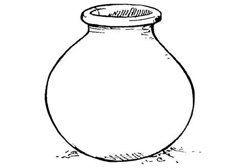 clay pot clipart black  white  clipart station