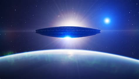 Ufo Over Earth Wallpaper and Background Image   1416x812 ...