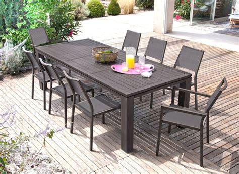 grande table de jardin rectangle fiero proloisirs