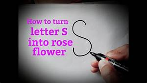 How To Draw A Rose Flower Easy From Letter S How To Draw