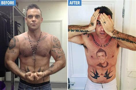 Robbie Williams' fans stunned as he reveals 'tattoo of his ...