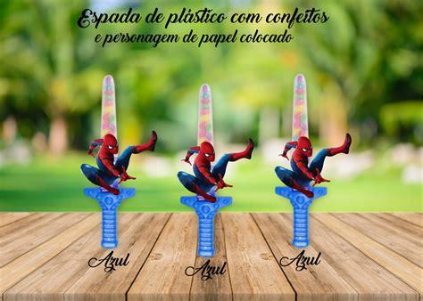espada homen aranha com doces no Elo7 Brl Flex Festas