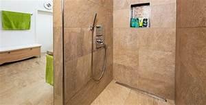 Bodengleiche Dusche Fliesen Verlegen : begehbare duschen mit fliesen gestalten fliesen kemmler ~ Orissabook.com Haus und Dekorationen