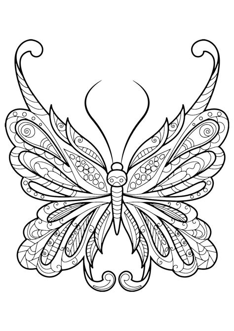 adult butterfly coloring book easy christmas crafts
