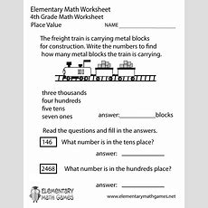 Fourth Grade Place Value Worksheet