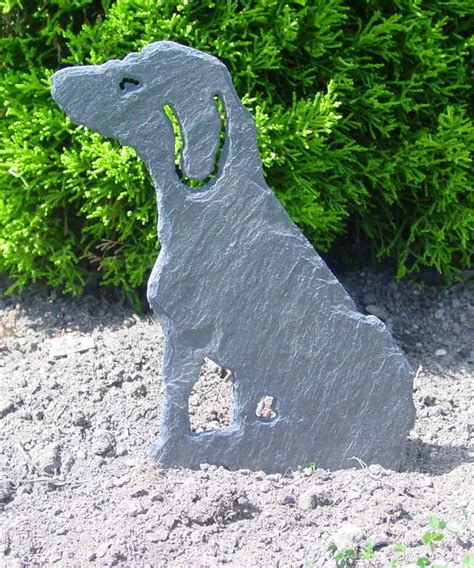 Garten Deko Hund by Gartenstecker Hund Schiefergalerie Kunsthandwerk Shop