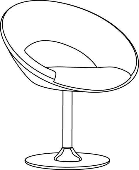 perspective cuisine coloriage un fauteuil design dory fr coloriages
