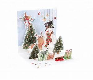 Pop Up Karte Weihnachten : pop up 3d weihnachten karte popshot schneemann und vogel 13x13 cm 508547 ~ Buech-reservation.com Haus und Dekorationen