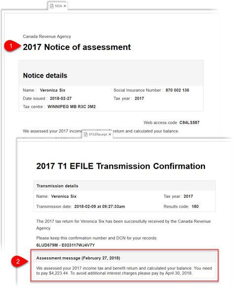 express noa notice  assessment