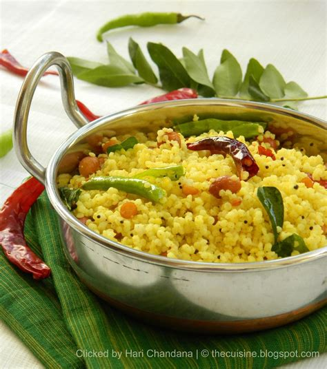 millet cuisine blend with spices korra biyyam chitrannam millet lemon