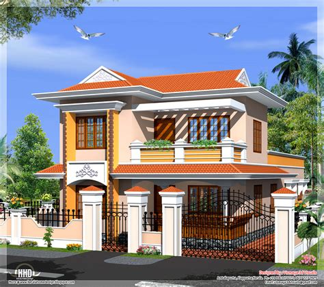 colonial style home plans kerala model villa in 2110 in square house design plans