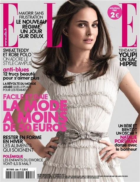 Natalie Portman For Elle France February