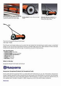 Husqvarna 54 16 Inch Push Reel Lawn Mower