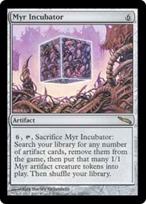 myr commander deck mtg myr incubator mirrodin gatherer magic the gathering