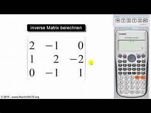 Matrizen Berechnen : mathe video inverse matrix berechnen mit taschenrechner nachhilfetv ~ Themetempest.com Abrechnung
