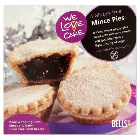 We Love Cake 4 Gluten Free Mince Pies 220g   Fruit Pies & Tarts   Cakes   Food Cupboard